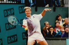 Russian tennis player Yevgueni Kafelnikov during the French Open.