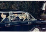 Diana on the way to Ludgrove school with Prince Harry