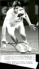 Swiss tennis player Manta Lorenzo during the Swiss Open