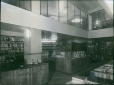 An indoor view of a library.