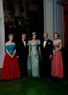 Portrait of the princess Benedikte with family