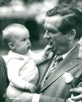Denis Healey with the grandchild Thomas Copsey