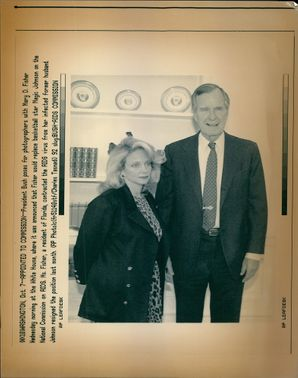 George Walker Bush with Mary Fisher.