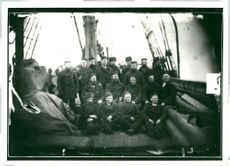 Adolf Nordenskiöld and the crew at Vega which made the Nordost Passage possible as a route