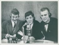 Göran Reinius, Magnus Ljunggren and Carl Gustaf Buren from Bromma's educational works compete in Sweden's radio