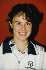 Martina Hingis after the French Open win