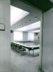 An empty conference room.