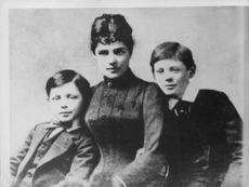 "Lady Randolph Churchill with her sons, Winston Churchill (Right) and   John Strange ""Jack"" Spencer-Churchill (left)."