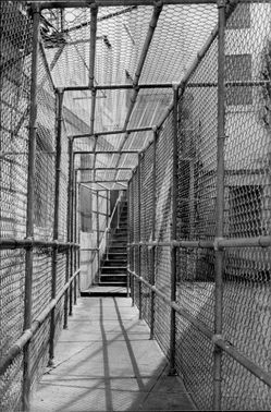Photo from the inside of the Alcatraz prison.