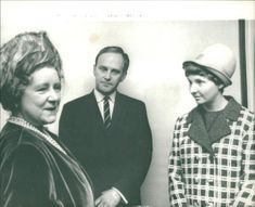 Queen mother with Mr. and Mrs. Norman Thorns