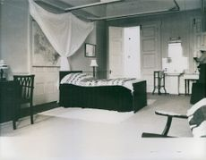 """A room inside the """"Her Majesty's Yacht Britannia."""""""