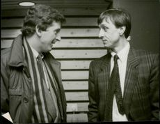 Roy Hodgson (MFF Manager) and Johan Cruijff (Technical Director of Ajax)