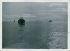 In convoy on the Atlantic. 1942