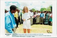 "German tennis player Steffi Graf in South Africa visits tennis court ""Steffi Graf Square"""