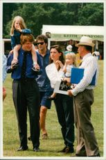 Earl Spencer with his family
