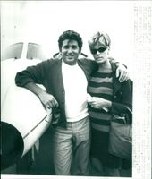Mike Landon with his wife Marjorie Lynn on Sweden visit