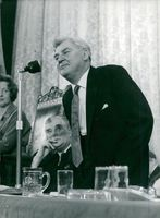 Aneurin Bevan speaks during the Labor Party conference in Blackpool