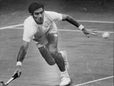 Ken Rosewall was in action during the Stockholm Open 1970