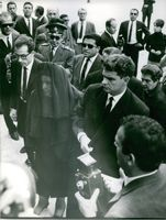 Mrs. Cybele Papandreou at her husband, Georgios Papandreou's funeral.  - Nov 1968