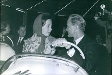 Princess Benedikte and Richard, 6th Prince of Sayn-Wittgenstein-Berleburg at the carnival.