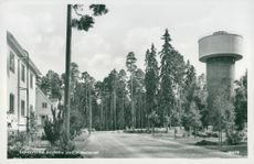 Sandviken. Barrister with Water Tower - postcard
