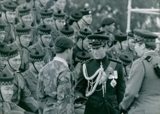 Prince Charles and  The Gurkhas The Prince of Wales meeting officers and men of the 2nd Goorkhas.