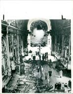 The AMIA bombing:damage in buenos church.
