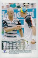 Thomas Muster and Jan Apell in the Tennis Open - Melbourne