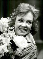 "Actress Hayley Mills during the rehearsals of ""A Touch of Spring"" at the Comedy Theater"