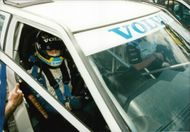 Rickard Rydell in the Vovlo 850 that he runs in the BTCC series. Here he is seen at a competition at Silverstone.