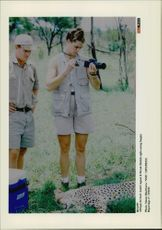Actress Brooke Shields on safari in Singita
