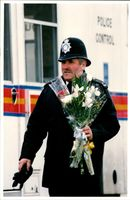 A Police Officer in Ilford.