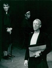 "Max von Sydow has replaced Allan Edwall as the Lawyer in the ""Dream Game"""