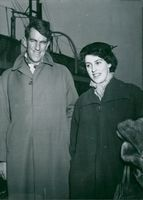 Edmund Hillary, Alpineist and Polar Scientist, here with his wife in London