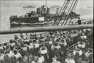 Troops of the 61st Infantry Division on the deck of Oronsay en route for the Norwegian Campaign in 1940.