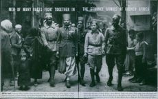 Men of many races fight together in the strange armies of French Africa. 1943.