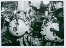 The interior of one of the Navy´s submarines.