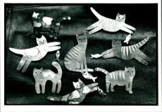 The oxford gallery's cats.