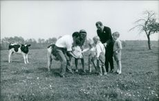 Albert II with his family.
