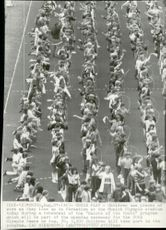 Young people during the rehearsals of the opening ceremony of the 1972 Olympic Games