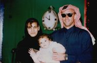 Thomas Muster with wife and child