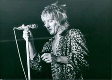 British rock star Rod Stewart
