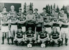 Group Photograph of East German Football Teams.