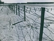 The lines connecting the villages block concrete blocks. 1944.