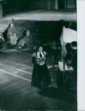 Jane Rhodes as Carmen in her opera's first ever staging at the Palais Garnier, 1959.