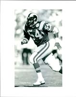 Mike Wilcher in action, LA Rams