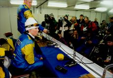 Magdalena Forsberg explains his less good effort during the press conference after the 15 km skier.