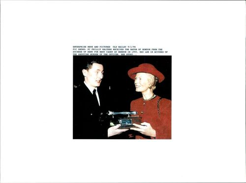 PC Phillip Walters with Duchess of Kent.