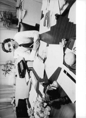 Nathan Levanthal at his desk, in his office.