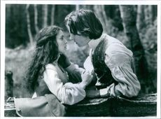 Still from the film Little Women with Winona Ryder and Christian Bale.